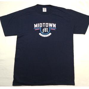 Medium Navy Blue MIDTOWN ROCKERS Licensed Band T-Shirt.
